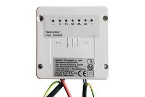 Heat controller for heating plates