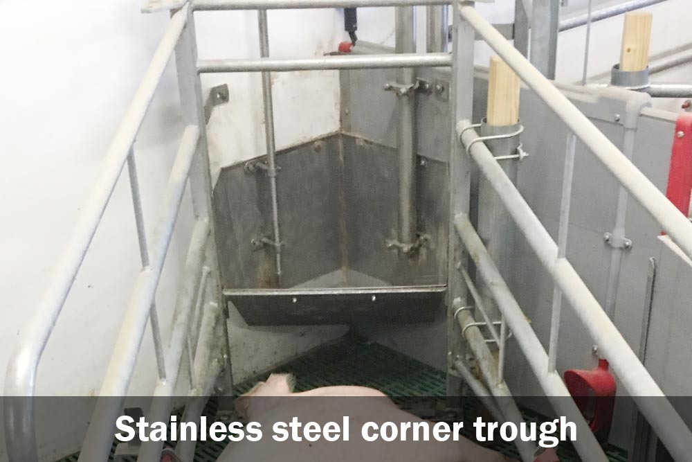 Stainless corner trough for Welsafe